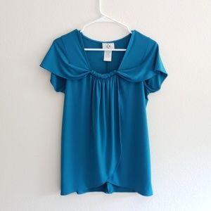 Ice womens sz small blue top shirt summer